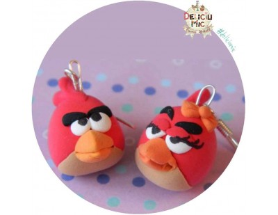 "Cercei ""Red Angry Birds"" indragostite"