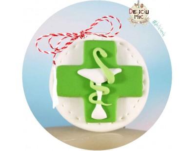 "Martisor Brosa ""Logo Farmacie"""