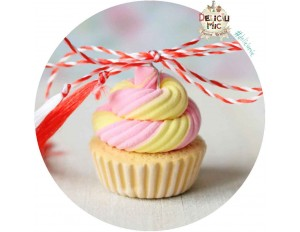 Martisor Pandantiv Vanilla & Strawberry Cupcake