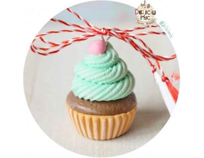 """Martisor Pandantiv """"Pink Candy Cupcake"""""""