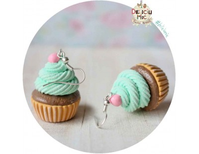 "Cercei ""Pink Candy Cupcake"""