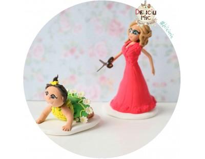 """Figurina de tort """"Taierea Motului""""  - Bebe & Nasa"""
