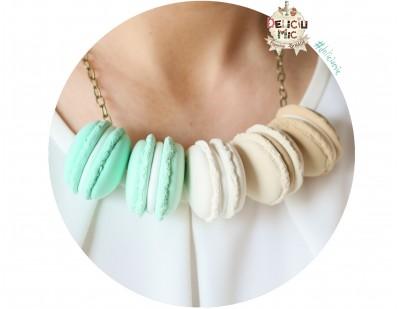 "Colier handmade ""5 Macarons"" din pasta polimerica"