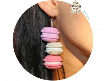 """Cercei handmade """"3 Macarons"""""""