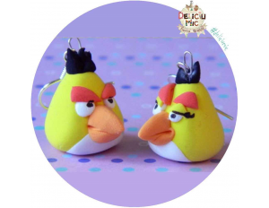 "Cercei ""Yellow Angry Birds"" indragostite"