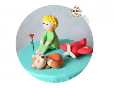 Figurine de tort Micul Print, Vulpe, Trandafir, Avion