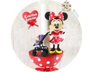"""Lumanari botez """"Minnie Mouse"""" & Bebelus in Carucior"""