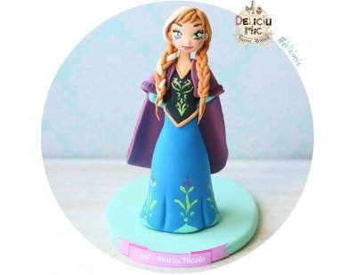 Figurina de tort pentru copii  - printesa Anna, Frozen
