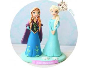 Figurina de tort pentru copii  - printesele Elsa si Anna - Frozen