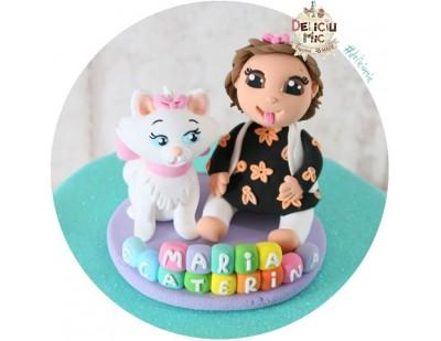 Figurina de tort Bebe & Pisicuta Marie - pisicile aristocrate