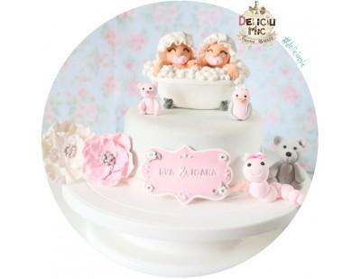 Set Figurine de tort pentru Gemene