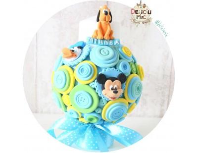 "Lumanare de botez Pitica - ""Mickey Mouse & Donald Duck"""