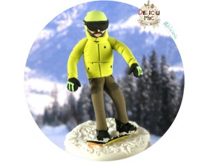 Figurina de tort Snowboard