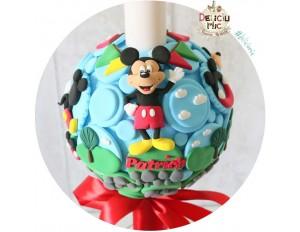 """Lumanare botez Scurta """"Clubul lui Mickey Mouse"""""""