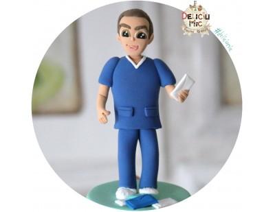 Figurina de tort aniversar - Doctor Veterinar