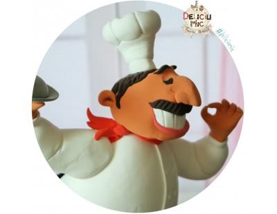 Figurina de tort Bucatar