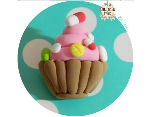 Brosa Handmade Cupcake cu Pastile