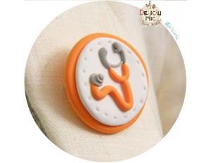 Brose handmade Stetoscop portocaliu