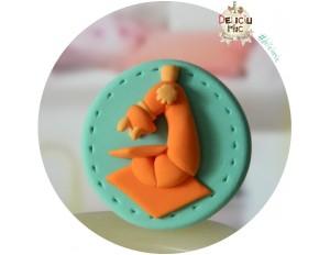 Brosa Handmade Microscop portocaliu