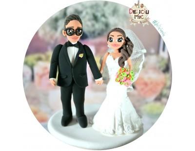 Figurine de tort pentru nunta - modelul CUTE