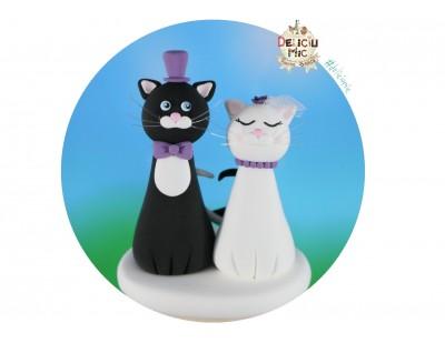 Figurine tort nunta Pisicute