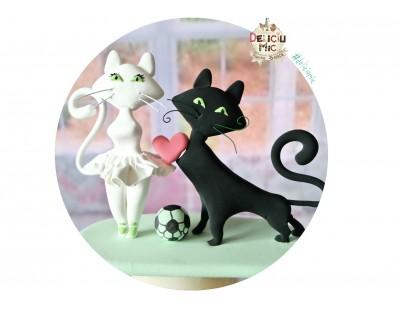 Figurine de tort pentru Nunta - Mire & Mireasa Pisici