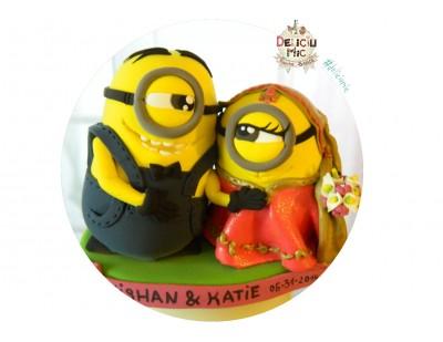 Figurina tort Nunta Mirele si Mireasa Minioni indieni