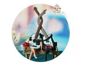 Figurine Tort Nunta Chitari - Mire si Mireasa