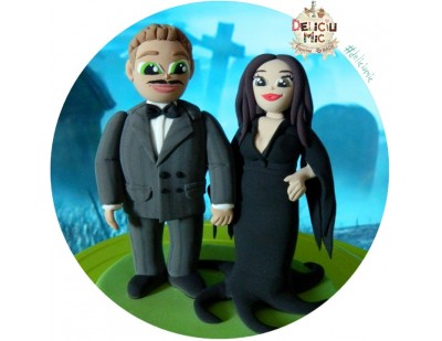 Figurine de tort personalizate Familia Addams