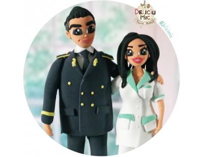 """Figurine de tort """"Ofiter de Politie si Farmacista"""""""