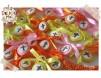 Cruciulite de botez - in nuante de galben, portocaliu si roz