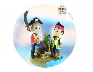 Figurina de tort personalizata: Baietel Pirat & Jake si piratii din Tara de Nicaieri