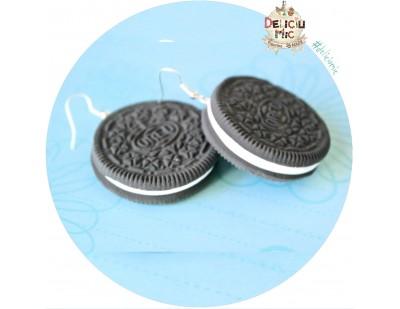 Cercei handmade biscuiti Oreo
