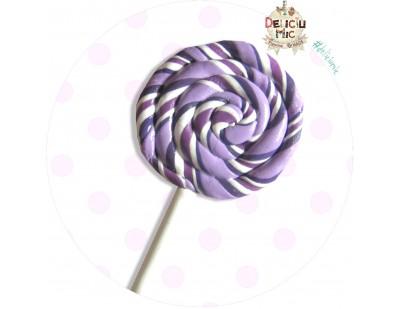 Brosa handmade -  Acadea spiralata in nuante de mov si lila