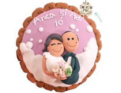 Magnet personalizat pentru aniversare casatorie