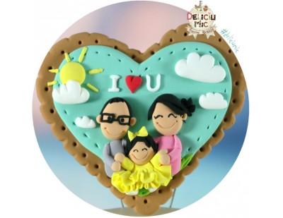 Magnet personalizat pentru familii