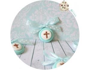 Cruciulite de botez bleo-turcoaz - pentru baietei