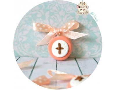 Cruciulite de botez peach - pentru fetite