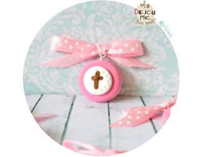 Cruciulite de botez roz - pentru fete