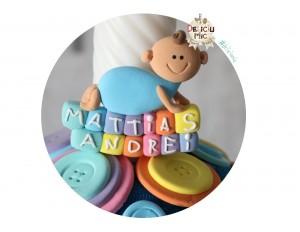"""Marturie botez """"Smiley Baby"""" personalizata cu numele bebelusului"""