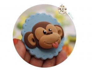 """Marturie pentru botez magnet cu tematica """"Jungla"""" - maimuta handmade"""