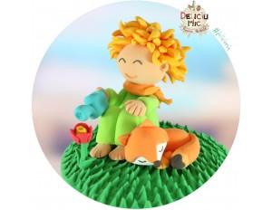 Figurina de tort pentru copii  - Micul Print si vulpita