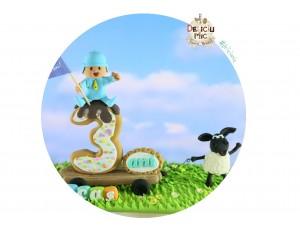 Figurina de tort aniversara Baietel 3 ani - Figurina Pokoyo si Oita Timmy