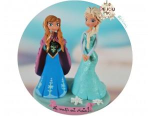 Figurina de tort pentru copii  - printesele Anna si Elsa, Frozen