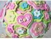 Buchet de Mireasa - personalizat - roz, verde crud, turcoaz - handmade din Pasta Polimerica -