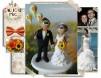 Figurine de tort pentru nunta - Mire cu baloane galbene