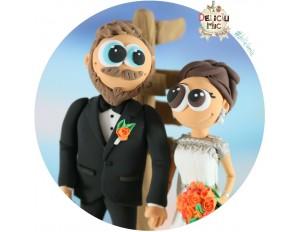 Figurine de tort pentru nunta - Miri pasionati de calatorii