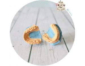 Cercei Modele dentare cu surub - 1 cm