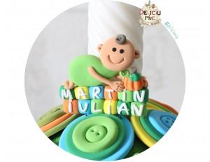 Marturii magneti Smiley Baby cu Dovleac, personalizat cu numele bebelusului