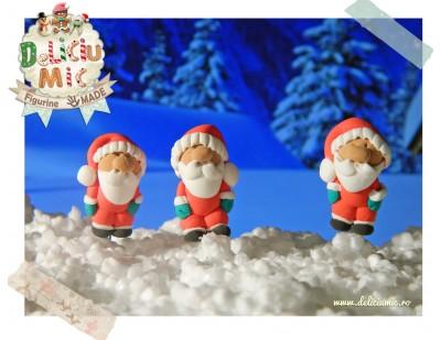 Mos Craciun in miniatura - Cercei handmade